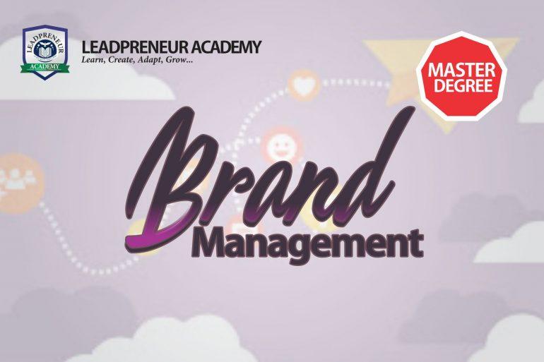 brand management masters program