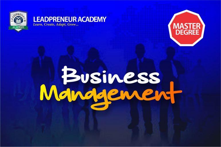 M.Sc Business Management