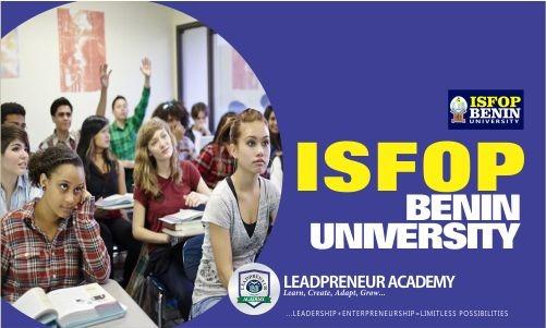 ISFOP BENIN UNIVERSITY - Leadpreneur Academy