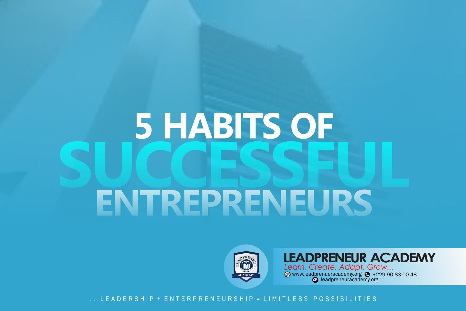 5 HABITS OF SUCCESSFUL PEOPLE