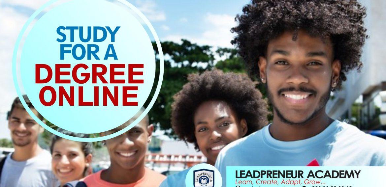 STUDY FOR A DEGREE ONLINE – LEADPRENEUR ACADEMY