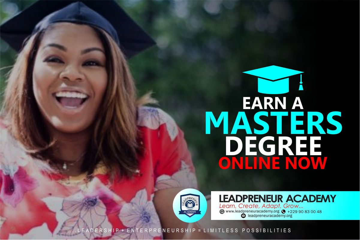 earn a master degree online with leadpreneur academy