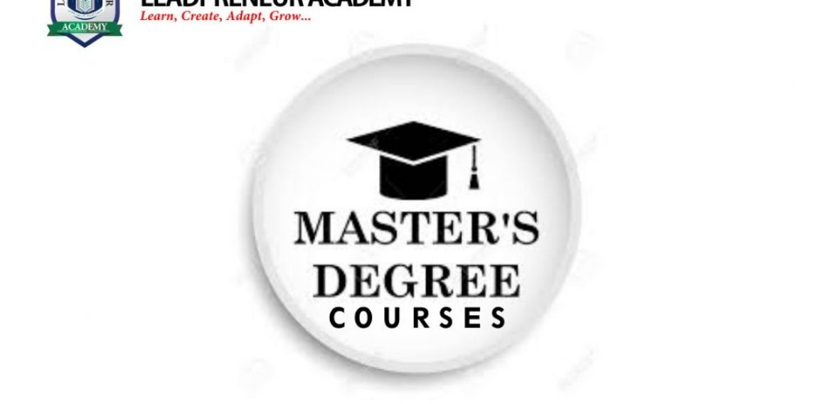 MASTERS DEGREE COURSES