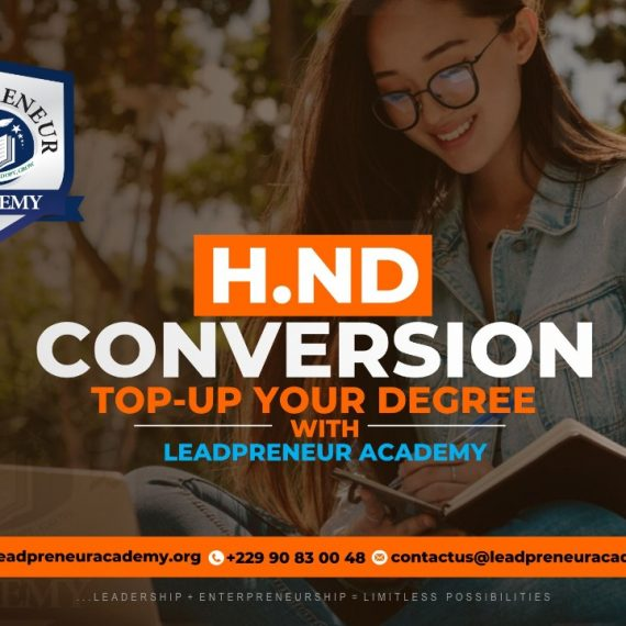 HND TOP-UP DEGREE PROGRAM WITH LEADPRENEUR ACADEMY