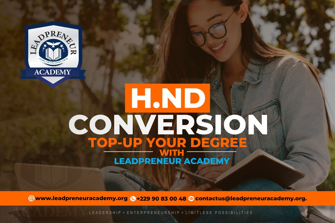 hnd top-up degree program