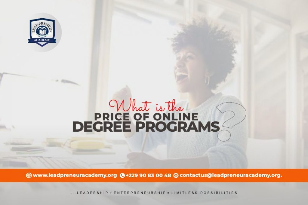 Cost of online degree program