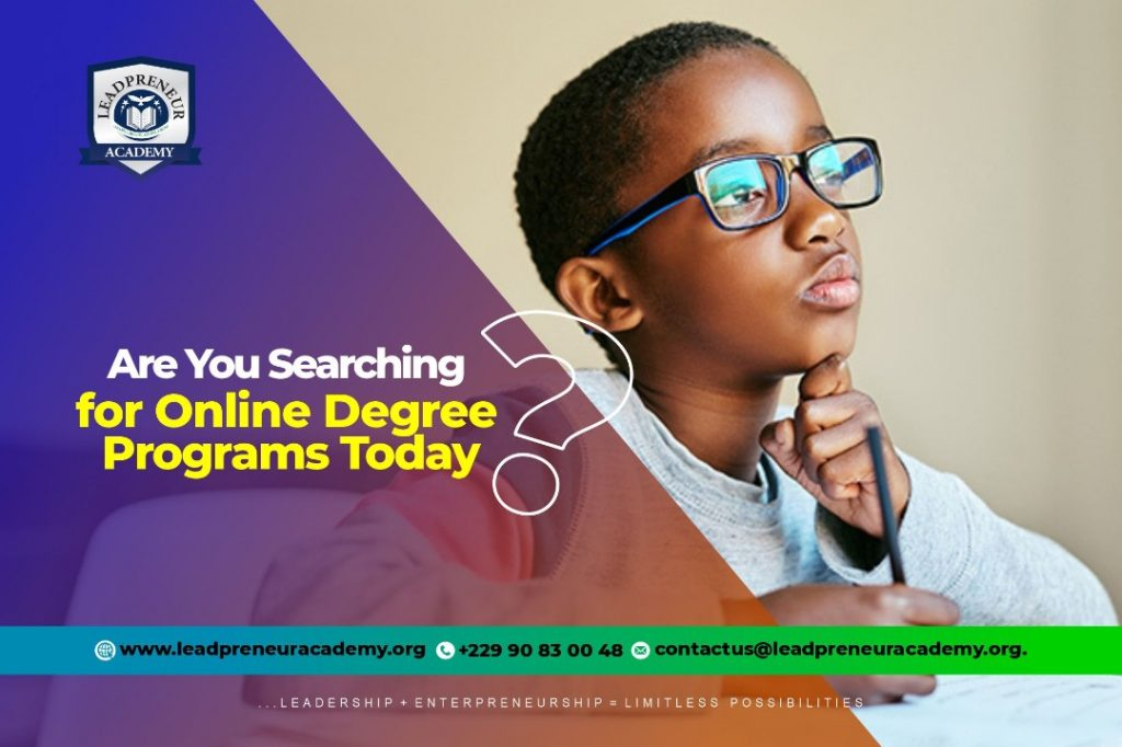 Searching for online degree programs