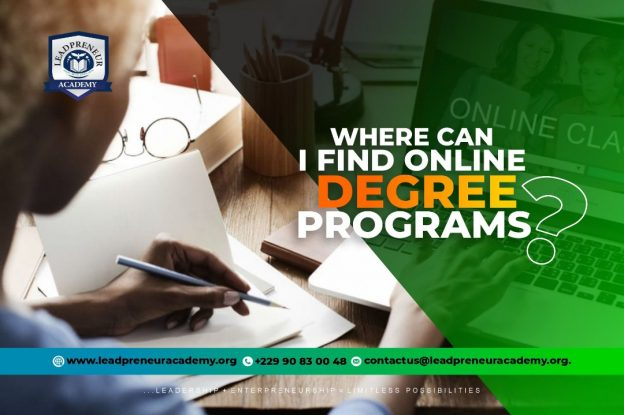 Find online degree programs