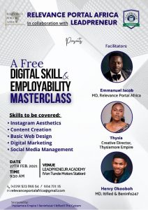 leadpreneur academy free digital skills masterclass