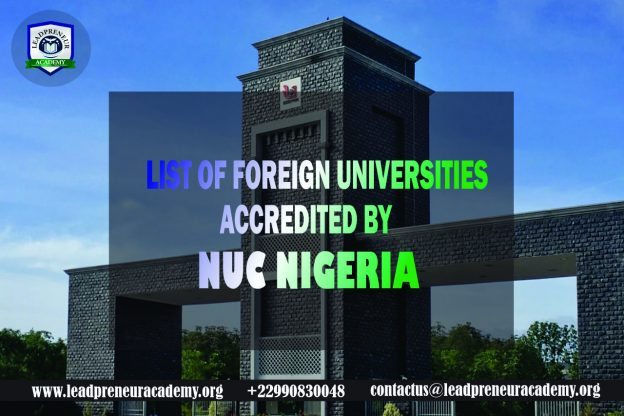 list of foreign universities accredited by nuc nigeria