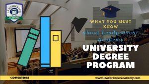 about leadpreneur academy university degree program